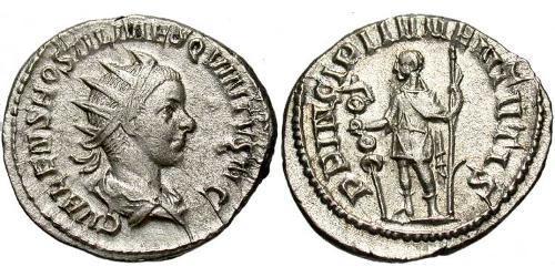 1 Antoninianus Roman Empire (27BC-395) Silver Hostilian (230-251)