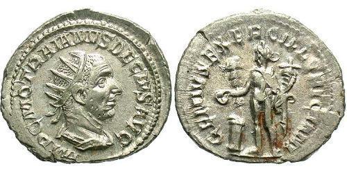 1 Antoninianus Roman Empire (27BC-395) Silver Trajan Decius (201-251)