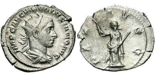 1 Antoninianus Roman Empire (27BC-395) Silver Volusianus (235-253)