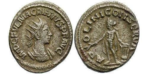 1 Antoninianus Roman Empire (27BC-395) Silver Macrianus Major (?-261)