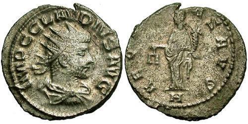 1 Antoninianus Roman Empire (27BC-395) Silver Claudius II  (213-270)