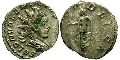 1 Antoninianus Roman Empire (27BC-395) Silver Saloninus (242 - 260)