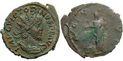 1 Antoninianus Gallic Empire (260-274)  Victorinus (?-271)