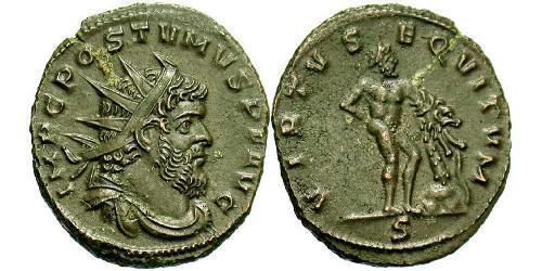 1 Antoninianus Gallic Empire (260-274)  Postumus (260-268)