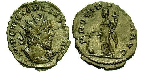 1 Antoninianus Gallic Empire (260-274)  Victorinus (?-271)