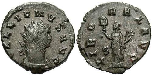 1 Antoninianus Roman Empire (27BC-395)  Gallienus (218-268)