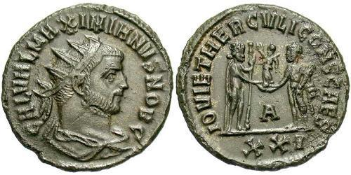 1 Antoninianus Roman Empire (27BC-395)  Galerius Maximianus (260-311)