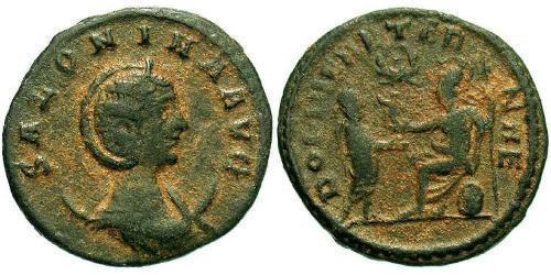 1 Antoninianus Roman Empire (27BC-395)  Salonina (?-268)