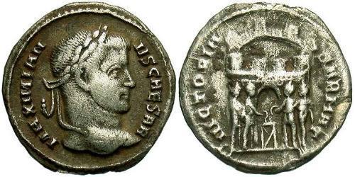 1 Argenteus Roman Empire (27BC-395) Silver Galerius Maximianus (260-311)