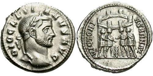 1 Argenteus Roman Empire (27BC-395) Silver Diocletian (244-311)