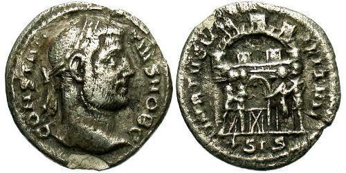 1 Argenteus Roman Empire (27BC-395) Silver Constantine I (272 - 337)
