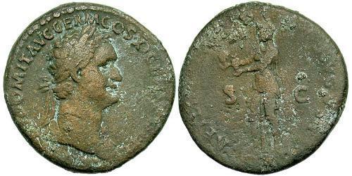 1 As Roman Empire (27BC-395) Orichalcum Domitian  (51-96)