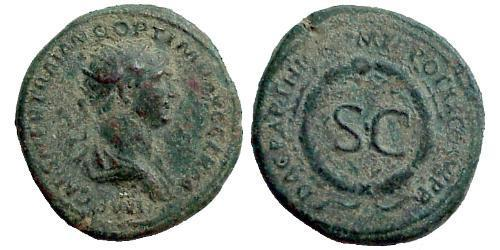 1 As Roman Empire (27BC-395) Orichalcum Trajan (53-117)