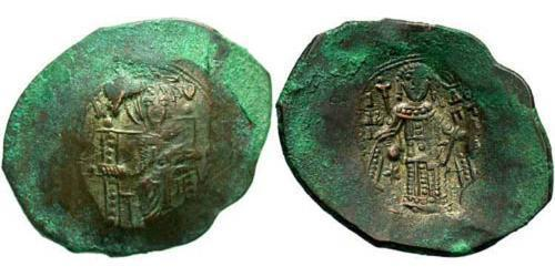 1 Aspron trachy Byzantine Empire (330-1453) Billon Isaac II Angelos (1156-1204)