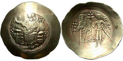 1 Aspron trachy Byzantine Empire (330-1453) Electrum  John II Comnenus (1087-1143)