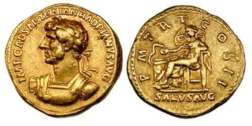 1 Aureus Roman Empire (27BC-395) Gold Hadrian  (76 - 138)