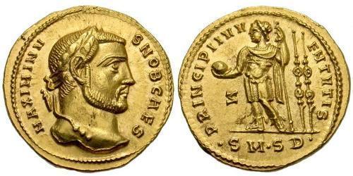 1 Aureus Roman Empire (27BC-395) Gold Maximinus II (270 - 313)
