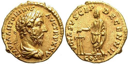 1 Aureus Roman Empire (27BC-395) Gold Marcus Aurelius (121-180)