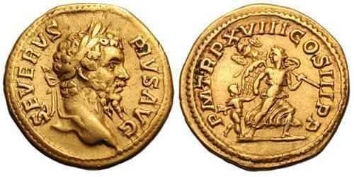 1 Aureus Roman Empire (27BC-395) Gold Septimius Severus (145- 211)