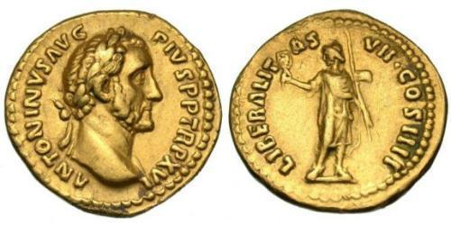 1 Aureus Roman Empire (27BC-395) Gold Antoninus Pius  (86-161)
