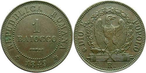 1 Baiocco Vatican (1926-) Copper