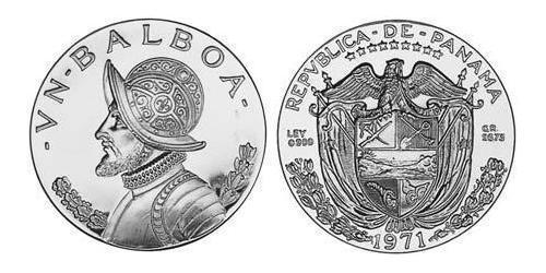 1 Balboa Panamá Argento Vasco Núñez de Balboa (1475 – 1519)