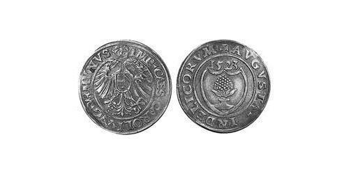 1 Batzen Imperial City of Augsburg (1276 - 1803) Silver Charles V, Holy Roman Emperor (1500-1558)