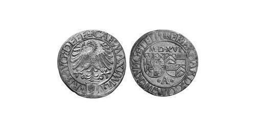 1 Batzen Imperial City of Augsburg (1276 - 1803) Silver Maximilian I, Holy Roman Emperor (1459 - 1519)