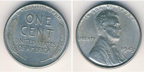 1 Cent Estados Unidos de América (1776 - ) Acero