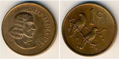 1 Cent Sudáfrica Bronce