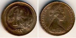 1 Cent Australia (1939 - ) Bronze Elizabeth II (1926-)