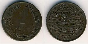1 Cent Kingdom of the Netherlands Bronze 