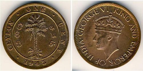 1 Cent Sri Lanka Bronze George VI (1895-1952)