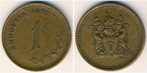 1 Cent Rhodesia (1965 - 1979) Bronzo