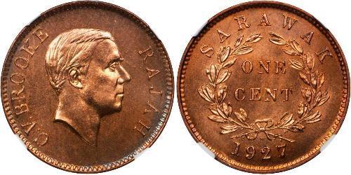 1 Cent Sarawak Bronzo
