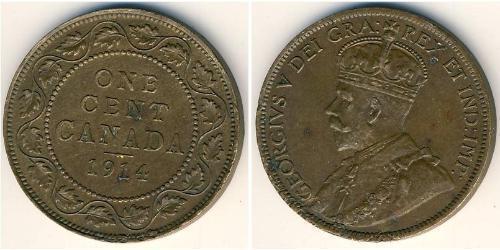 1 Cent Canadá Cobre