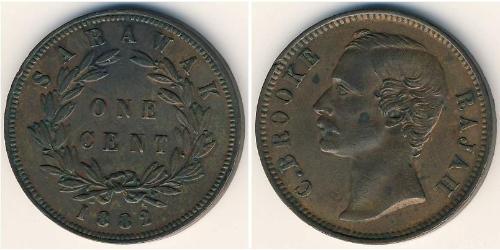 1 Cent Sarawak Cobre