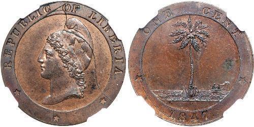 1 Cent Liberia Rame
