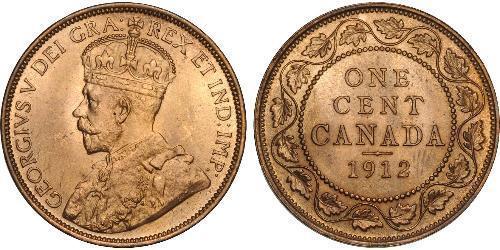 1 Cent 加拿大 Tin/銅/Zinc 乔治五世  (1865-1936)
