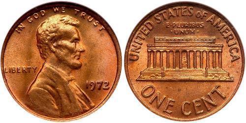 1 Cent Estados Unidos de América (1776 - ) Tin/Cobre/Zinc Abraham Lincoln (1809-1865)