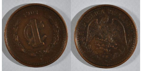 1 Centavo United Mexican States (1867 - ) Bronze