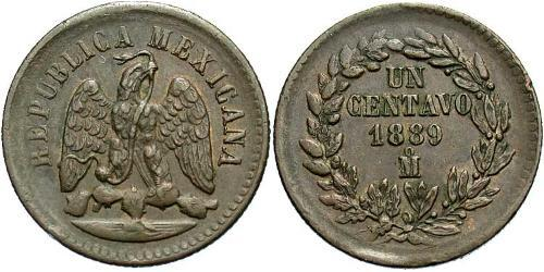 1 Centavo United Mexican States (1867 - ) Copper