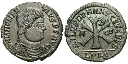 1 Centenionalis Римская империя (27BC-395) Бронза Магн Магненций (303-353)