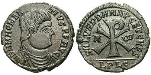 1 Centenionalis Римська імперія (27BC-395) Бронза Магн Магненцій (303-353)
