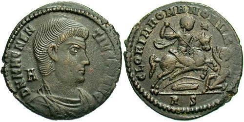 1 Centenionalis Roman Empire (27BC-395) Bronze Magnentius (303-353)