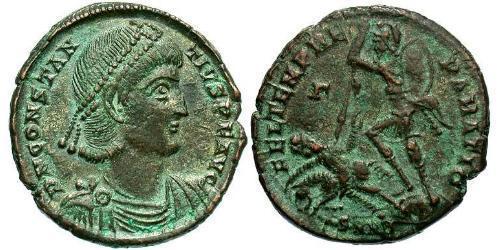 1 Centenionalis Roman Empire (27BC-395) Bronze Constantius II (317 - 361)