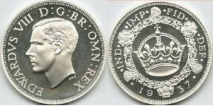 Moneta 1 corona regno unito 1922 argento 1937 edoardo for Edoardo viii del regno unito