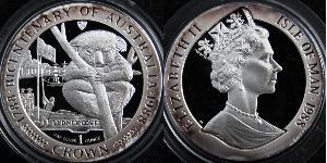 1 Corona Isola di Man Rame-Nichel Elisabetta II (1926-)