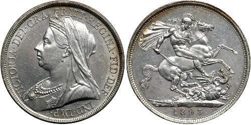 1 Crown 大不列颠及爱尔兰联合王国 (1801 - 1922) 銀 维多利亚 (英国君主)