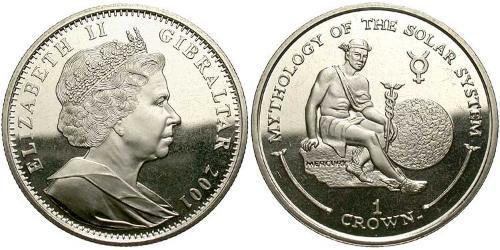 1 Crown Gibraltar Copper/Nickel Elizabeth II (1926-)